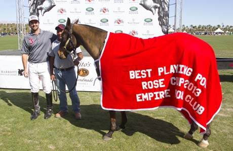 Joseph Stuart's horse won Best Playing Pony.