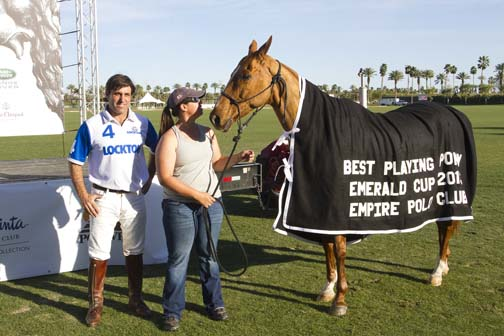 Hernan Tejera's horse won Best Playing Pony.
