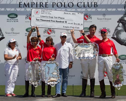 Empire Polo Team: Gina Padilla, Caroline Anier, Charlie Petersen and Rob Scapa.