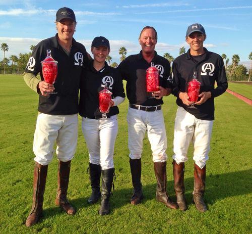 4-Goal Desert Challenge Winners A.O.K.: Ashton Wolf, Eileen Duffy Eric Hammon, Chad Bowman.