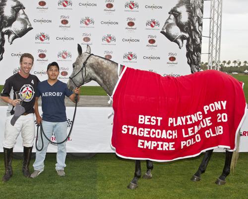 Nicolas Maciel's horse won Best Playing Pony.