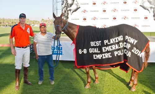 Ashton Wolf's horse won Best Playing Pony.