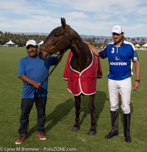 "Max Manini's mare "" Tita"" won Best Playing Pony in the USPA 6-8 Goal Champions Cup."